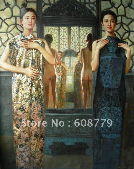 Free Shipping high quality lady paintings beauty