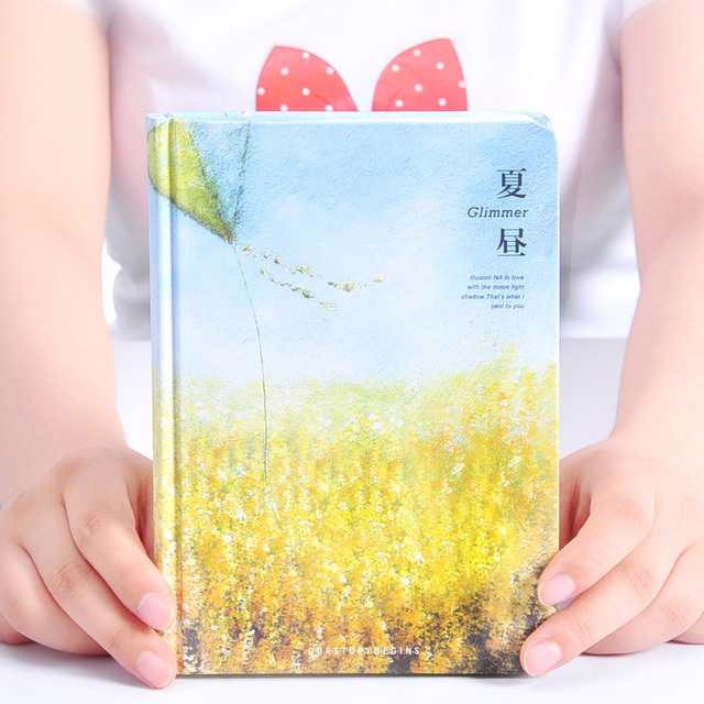 OUR STORY BEGINS Light Of Jungle Series Hardcover Notebook Horizontal Line Notebook A5 Thick Diary Book 1PCS