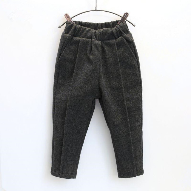 New Winter Children's Pant Boys And Girls Fashion Plus Velvet Leisure Thickening Warm Kid Comfortable Pants