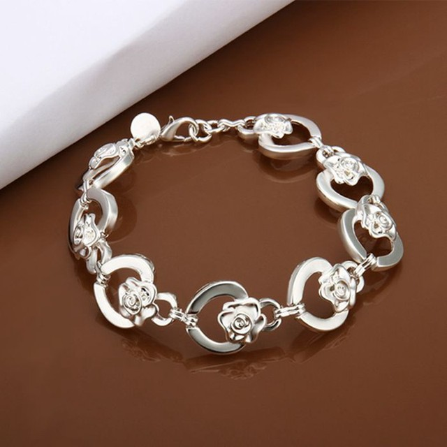 Free Shipping Wholesale silver bracelet, silver plated jewelry  /HUYCLNOW PDINVWGV