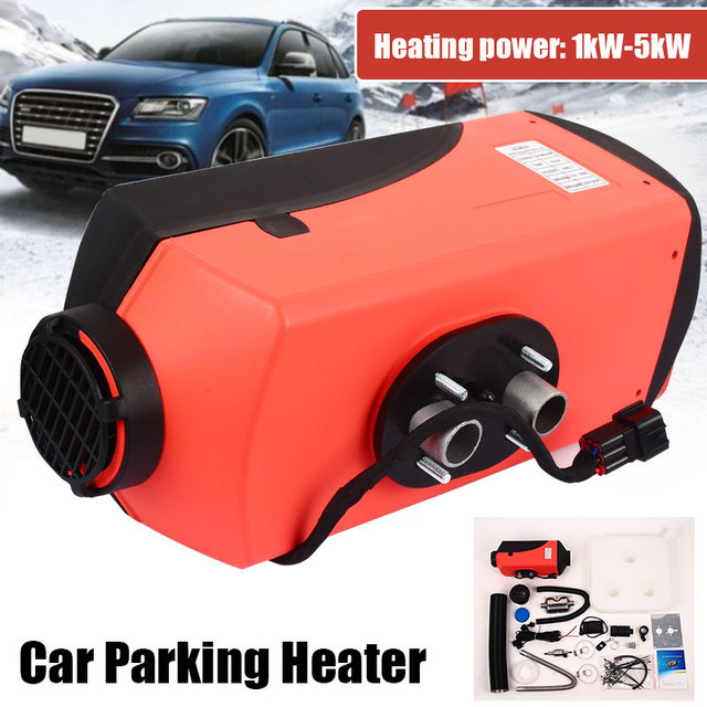 Vehemo 10L Tank Diesel Air Heater Thermostat Oil-Fired Heater Vehicle Heater Quiet Durable Trailer LCD