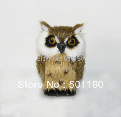 free shipping owl toy artificial owl gift for decoration mini owl  figurine