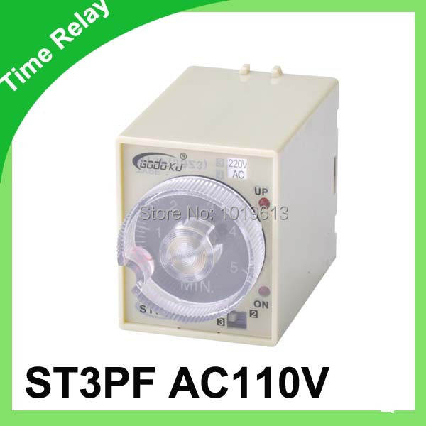 AC 110v Delay time relay power off delay timer time relay 0-3 minutes ST3PF