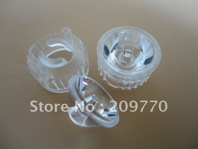 1w 3w  LED lens Plus stent 22MM Smooth surface ,5 8 10 15 20 25 30 45 60 120 degrees lens