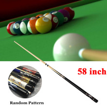 "Pool Cue New 58"" Billiard House Bar Pool Cue Sticks (Type 1 or Type 2, Random Pattern and Color)"