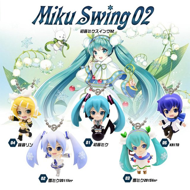 Hatsune Miku Snow Miku Action Figures 1/14 scale painted figure Kagamine Rin/Ren Dolls PVC ACGN figure Key Chains Toy Brinquedos