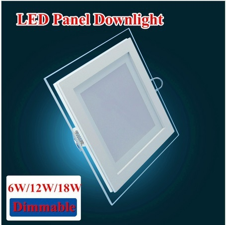 5pcs/lot 6W Dimmable LED Recessed Glass Crystal Ceiling Square Panel Light,Indoor Spot Down Lamp.Free Shipping Grid Downlight