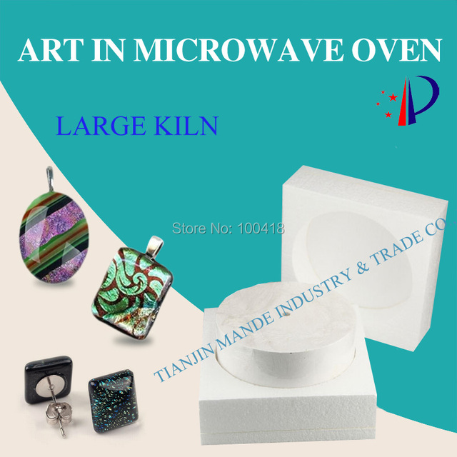 Large microwave kiln glass tool large create beautiful wedding dress art decoration in micowave oven