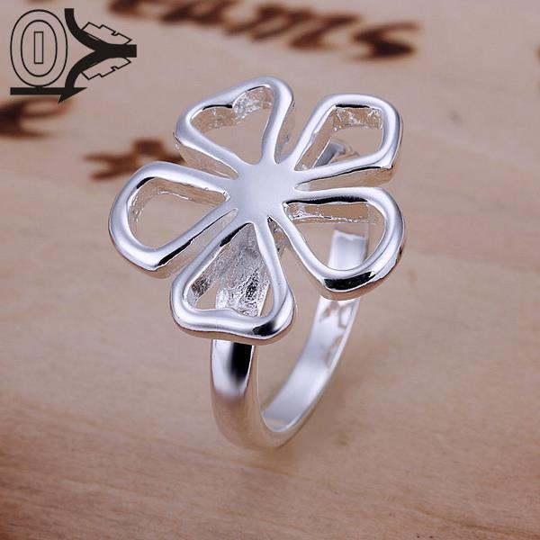 Wholesale Silver-plated Ring,Fashion Jewelry,King Flower Jewelry Women&Men Gift Finger Rings