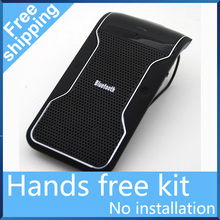 Free Shipping New Wireless car Bluetooth Handsfree Speakerphone Car Kit With Car Charger Bluetooth Hands free Kit manos libres