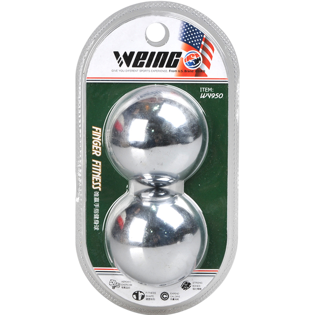 Weing Iron Handle Ball, 45mm Muscle Relex Apparatus, 100% Metal Fitness Ball