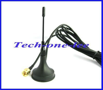 10 piece/lot GSM Antenna 900-1800 Mhz 2-3dbi SMA male plug straight with Magnetic base Aerial free shipping