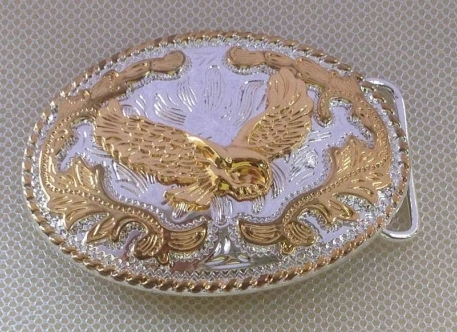Flying Eagle and With Flower Belt Buckle with pewter finish SW-BY173 suitable for 4cm wideth belt with continous stock