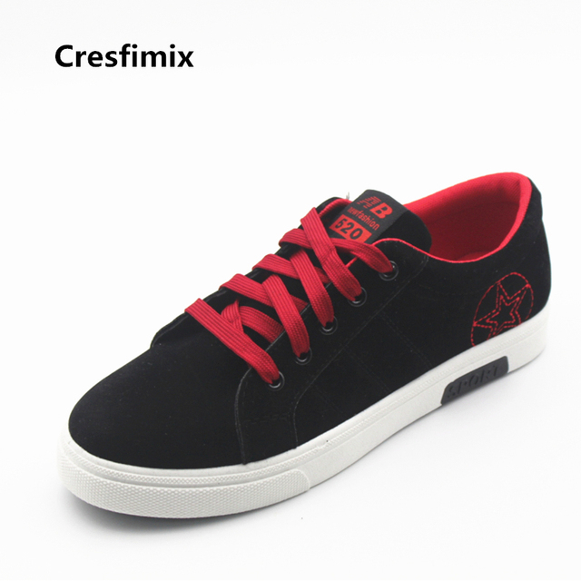 Cresfimix man's fashion canvas vulcanization shoe men casual lace up shoes male spring & autumn travel & outdoor shoes zapatos