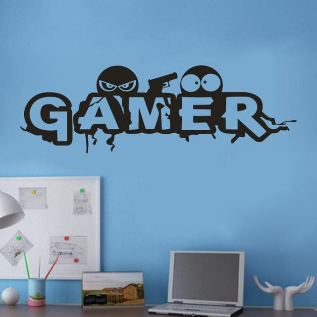 Wall Sticker  Gamer Words Pattern   Stickers Window  For Wall  Simpl  Wallstickers Adesivo De Parede 18APR9