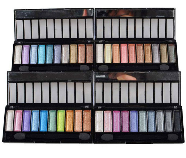 MS1008 Cosmetics Mineral Make Up  Eye Shadow Palette 9 Color Eye Shadow 4 Serie Shimmer Series  Fine Powder  Easy To Apply