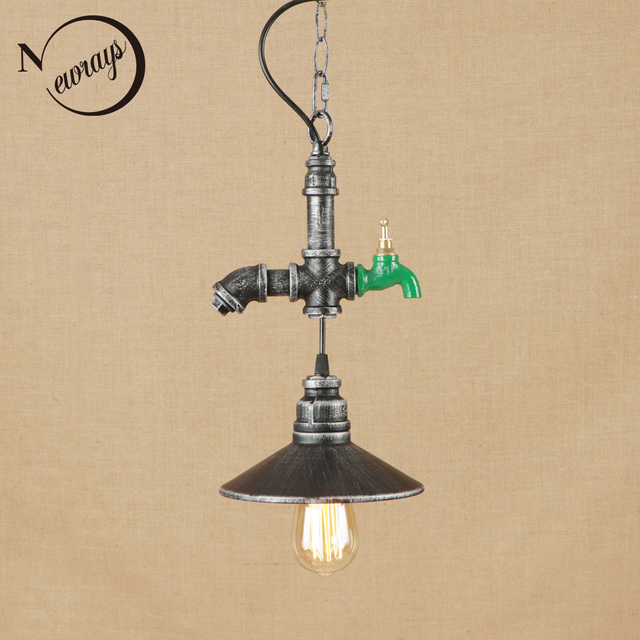 Industrial novelty iron hanging lamp LED E27 vintage art deco pendant with 2 colors for living room restaurant bar hotel bedroom