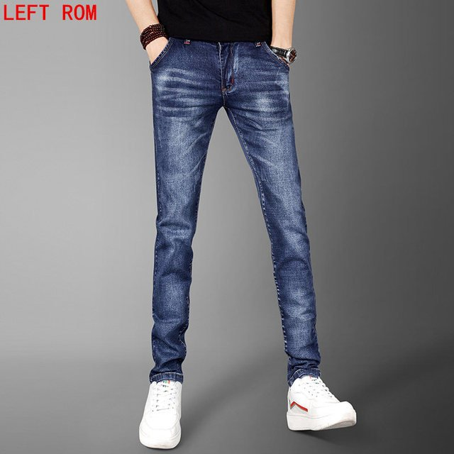 2017 Men Korean jeans casual thin summer straight blue jeans stretch jeans trousers classic cowboy young cowboy trousers