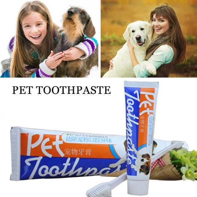 100g Clean Toothpaste Pet Toothpaste Dog Toothpaste Sweet Healthy Delay Tooth Aging Dog Accessories