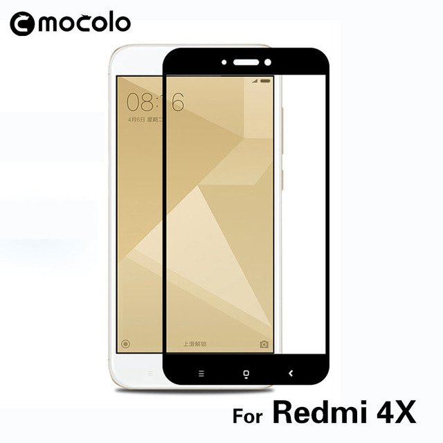 Mocolo 2.5D 0.33mm Full Screen Cover 9H Hard Screen Protector Tempered Glass For Xiaomi Redmi 4X Protective Glass Film Membrane