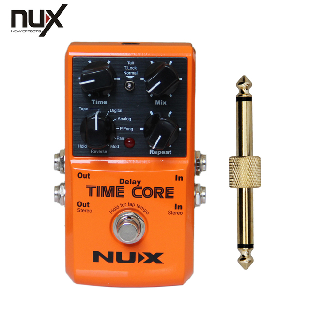 NEW NUX Effect Pedal ,Time Core Up to 7 delay models including  +1 pc pedal connector