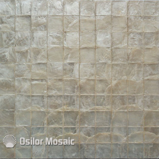 White color natural 100% capiz shell mother of pearl mosaic tile for living room or ceiling CS056
