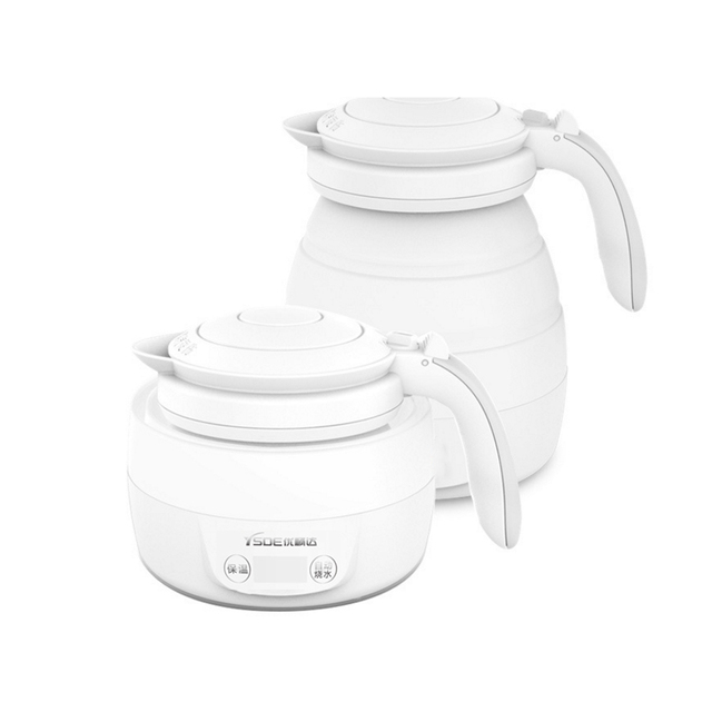 Foldable Electric Kettle Hot Water Electric Teakettle Intelligent Boiling Water Kettle Safe Tea Kettles Dorpshipping