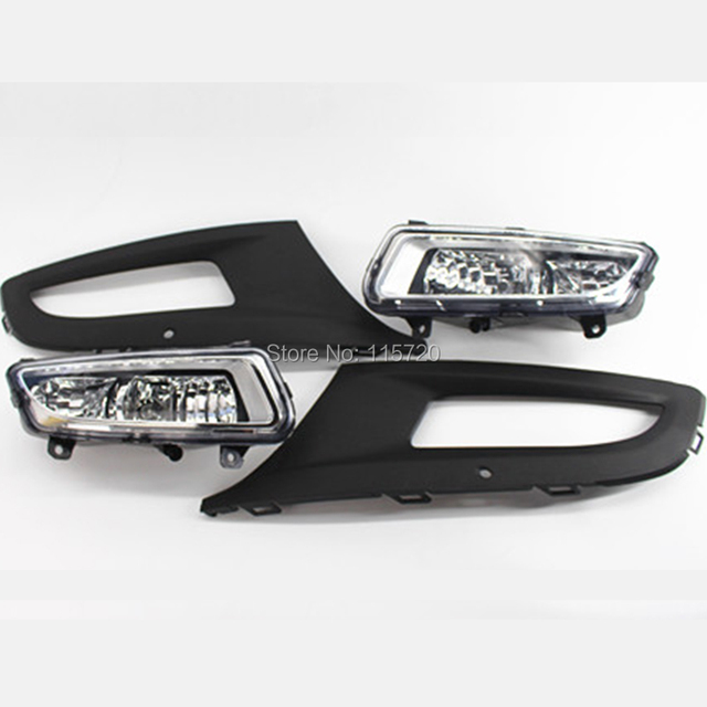 One Pair Front Left and Right Grill Fog Light Grille Lamps for VW Polo MK8 6R 2011 2012 2013