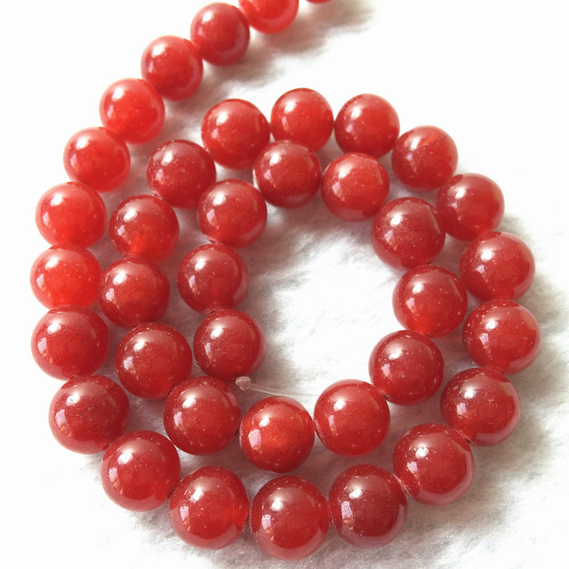 Natural Red carnelian onyx agat Stone 4mm 6mm 8mm 10mm 12mm Round Loose Beads Women Diy Jewelry Making Findings 15inch GE0802