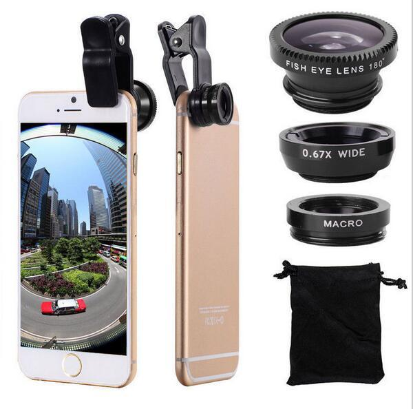 Mobile Phone Macro Fish Eye Lens Universal Wide Camera Lenses for iPhone 4 4S 5 5C 5S 6 Plus Samsung Galaxy S3 S5 Note 4 C301