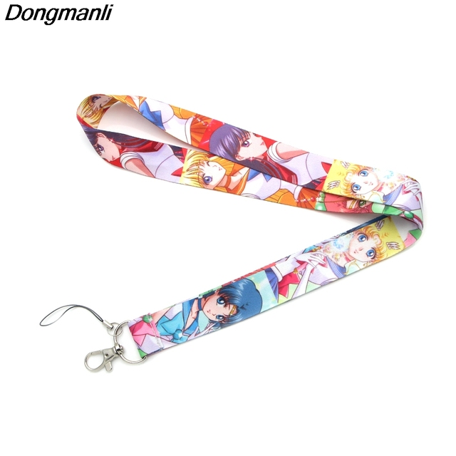 L2359 Sailor Moon necklace For Lanyard ID Card Pass Gym Mobile Phone Badge Holder necklace
