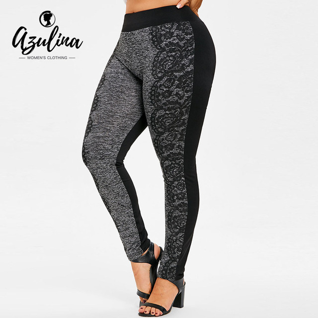 AZULINA Plus Size Print Pants Casual High Waist Pencil Pants Women Pant 2018 Skinny Fitness Trousers Big Size 5XL Ladies Clothes