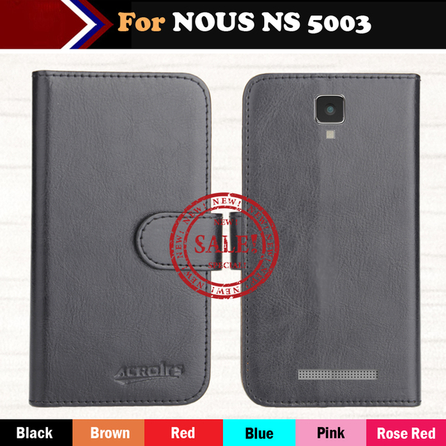 Factory Direct! NOUS NS 5003 Case 6 Colors Luxury Ultra-thin Leather Exclusive 100% Special Phone Cover Cases+Tracking
