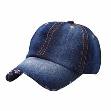 Fashion Men Women Jean Hat Casual Denim Baseball Cap Sun Unisex Hats Adjustable QJ0449