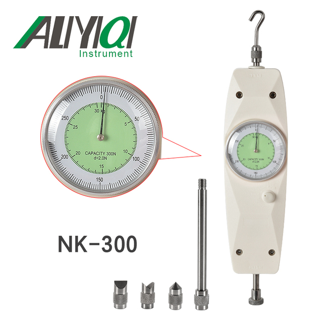 NK-300 300N Analog Push Pull  force gauge Dynamometer Measuring Instruments High Qualitydynamometer