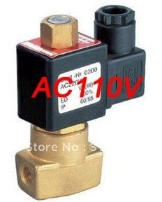 """Free Shipping 5PCS A Lot Electric Solenoid Valve Water Air N/O 110V AC 1/8"""" Normally Open Type"""