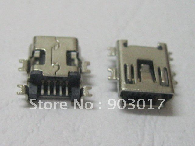 1000 Pcs Mini 5Pin USB Female Jack SMT Sinking Plates Connector NEW HOT Sale HIGH Quality