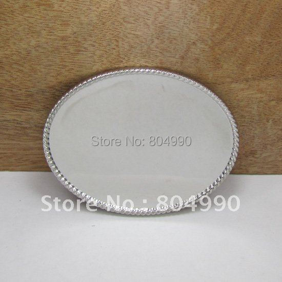Oval blank DIY belt buckle FP-02861 suitable for 4cm wideth belt with continous stock