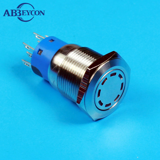 19119 Momentary 19mm power character illuninated flat head  metal button switch logo switch