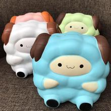 Anti Stress 13.5CM Squishy Sheep Antistress Jokes Cream Scented Stress Relief Kids Squeeze Toy Funny Gadgets Random Color