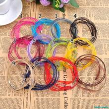 Handmade beaded jewelry accessories manufacturers wholesale diy material Ribbon wax rope necklace rope