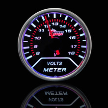 "2 1/16 Inch 2"" 52mm Smoke Len Pointer Car Motor Volt Voltage Gauge Meter Auto Gauge Car Styling In Stock"