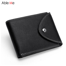 High quality leather Men wallet short business zipper buckle purse multifunctional card holders driver's license male wallet