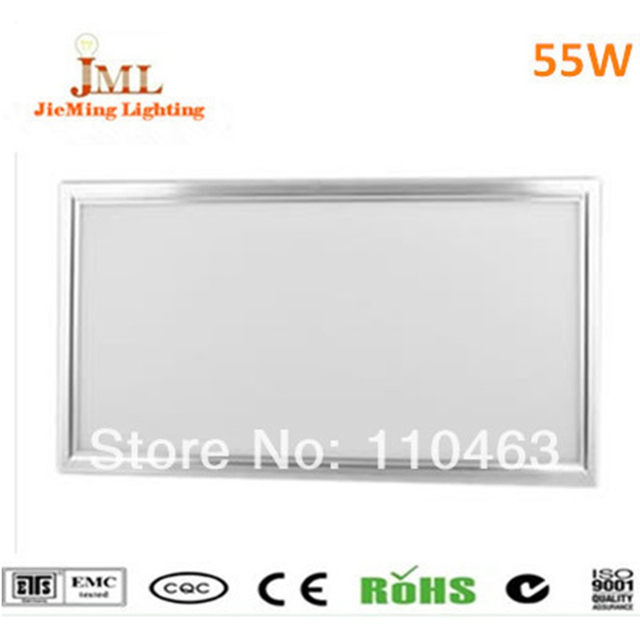 2017 led panel light 55W AC85-265V 3800lm promition price led panel light 600x1200mm ceiling lamp recessed light free shipping