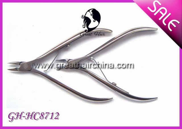10 pieces/ lot Stainless Steel Cuticle Cutter GH-8712 Free Shipping
