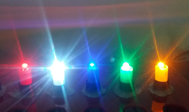 100 pcs /lot DC12V LED light, green, blue, white, yellow, and red for push button, arcade game machine parts