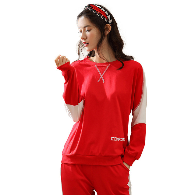 JINUO New Autumn Winter Women Pajamas Long Sleeve Pajamas Set Female Pajamas Sets Night Suit Sleepwear