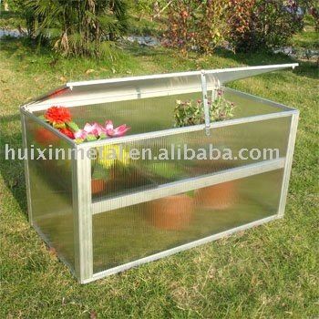 Garden used Minn Greenhouse Aluminum frame add PC sheets for plants