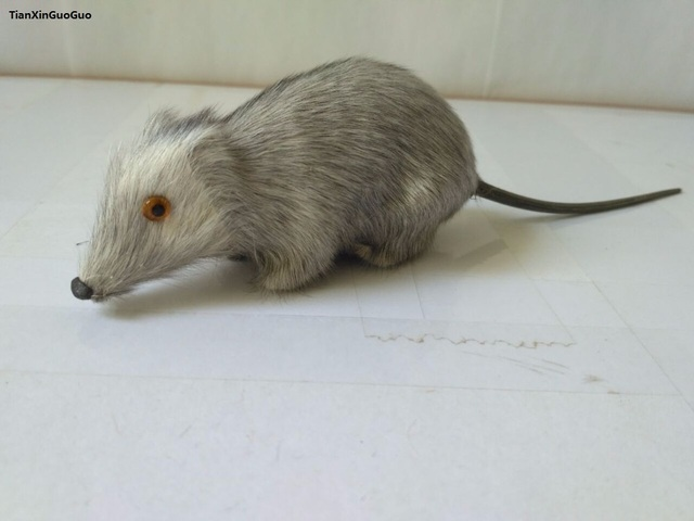 about 10cm simulation gray mouse hard model prop polyethylene&furs handicraft funny toy decoration gift s1584