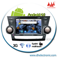 DH6612A android car dvd player  for toyota highlander with gps bluetooth ipod touch screen